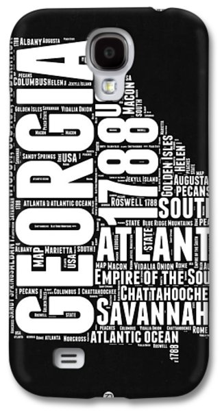 Georgia Black And White Word Cloud Map Galaxy S4 Case