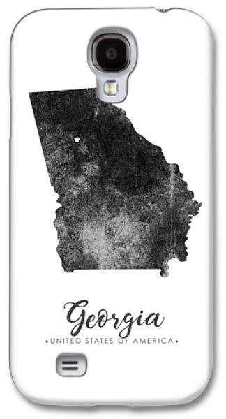 Georgia State Map Art - Grunge Silhouette Galaxy S4 Case