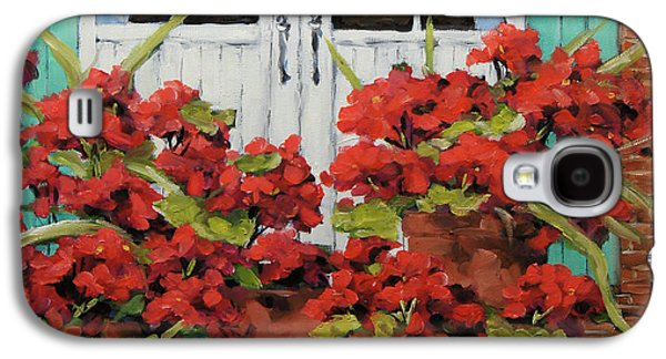 Geraniums On The Porch Galaxy S4 Case by Richard T Pranke