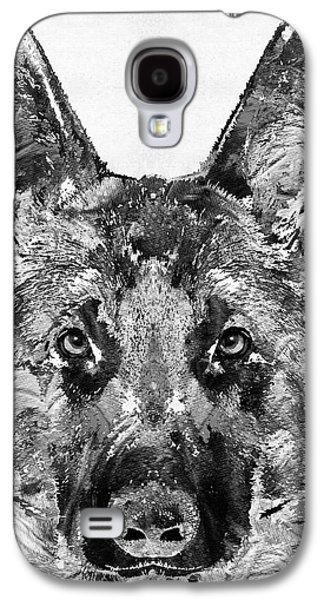 German Shepherd Black And White By Sharon Cummings Galaxy S4 Case