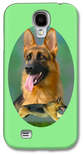 German Shepherd Breed Art Galaxy S4 Case