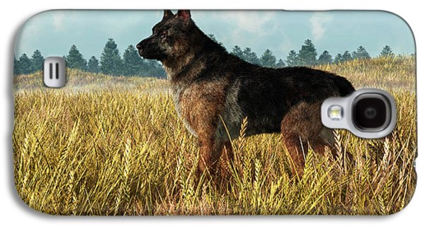 German Shepherd Galaxy S4 Case by Daniel Eskridge