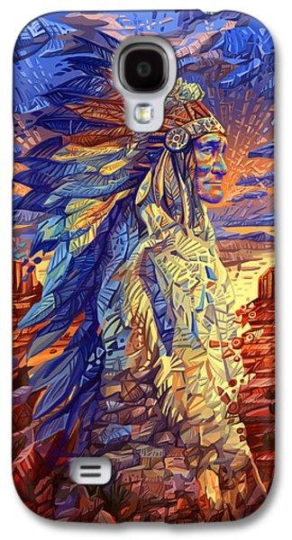 Geronimo Decorative Portrait Galaxy S4 Case by Bekim Art