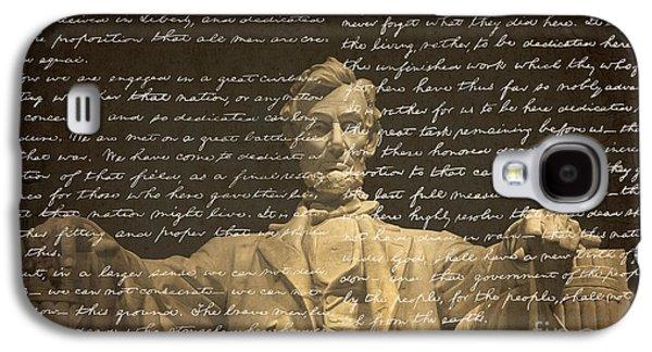 Lincoln Memorial Galaxy S4 Case - Gettysburg Address by Diane Diederich