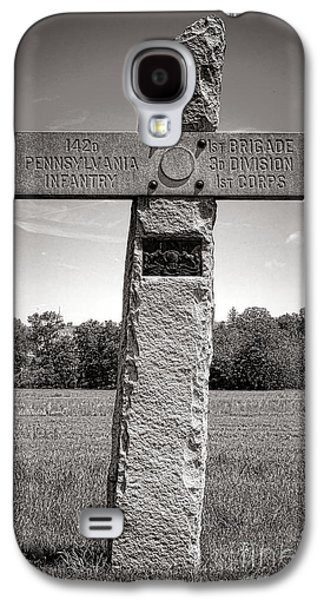 Gettysburg National Park 142nd Pennsylvania Infantry Monument Galaxy S4 Case by Olivier Le Queinec