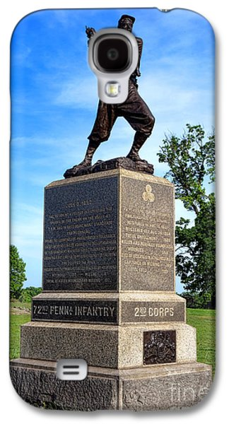 Gettysburg National Park 72nd Pennsylvania Infantry Memorial Galaxy S4 Case by Olivier Le Queinec