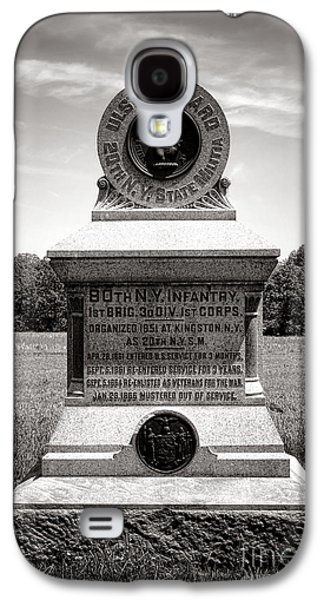 Gettysburg National Park 80th New York Infantry Militia Monument Galaxy S4 Case by Olivier Le Queinec