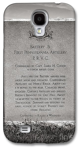 Gettysburg National Park First Pennsylvania Artillery Monument Galaxy S4 Case by Olivier Le Queinec
