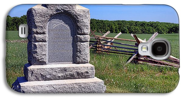 Gettysburg National Park Third West Virginia Cavalry Memorial Galaxy S4 Case by Olivier Le Queinec
