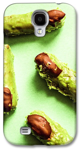 Ghastly Green Halloween Finger Food Galaxy S4 Case