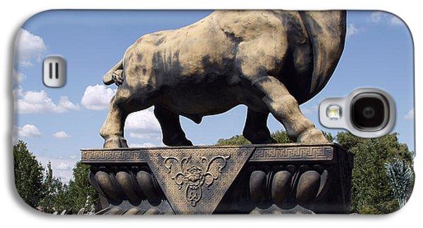 Minotaur Galaxy S4 Case - Giant Junk Yard Bull by Daniel Hagerman