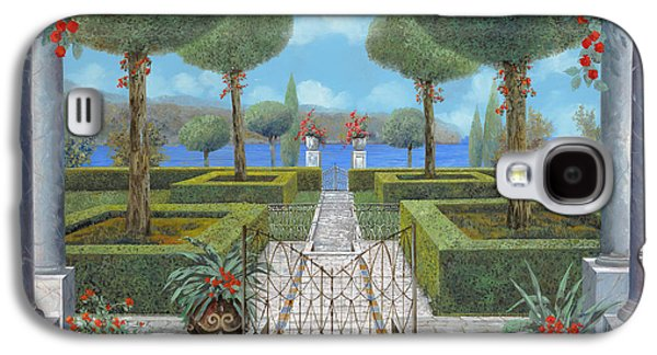 Pathway Paintings Galaxy S4 Cases - Giardino Italiano Galaxy S4 Case by Guido Borelli