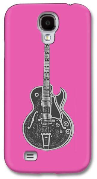 Guitar Galaxy S4 Case - Gibson Es-175 Electric Guitar Tee by Edward Fielding