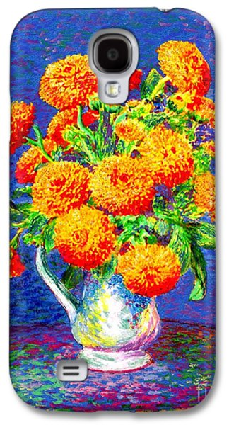 Gift Of Gold, Orange Flowers Galaxy S4 Case