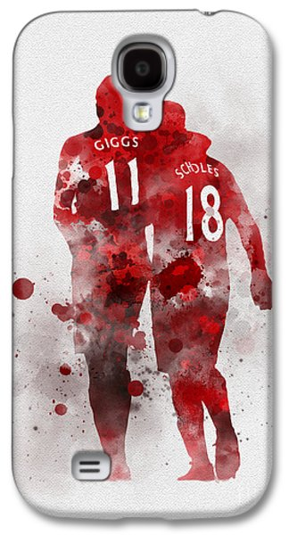 Giggsy And Scholesy Galaxy S4 Case by Rebecca Jenkins
