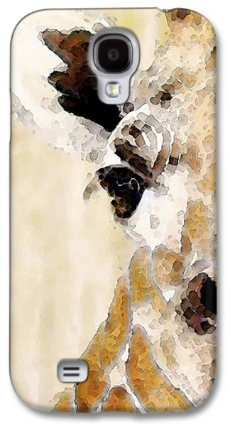 Giraffe Art - Side View Galaxy S4 Case by Sharon Cummings