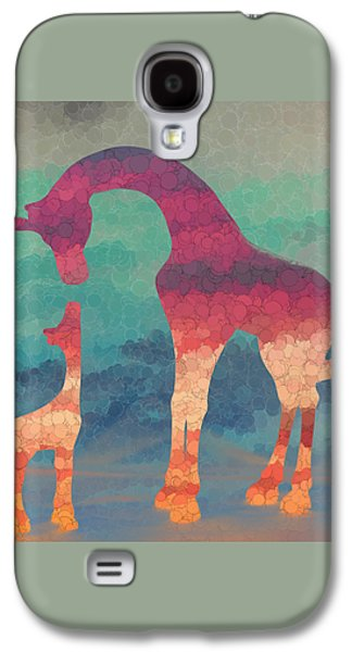 Giraffe Love Mother And Child Galaxy S4 Case by Terry DeLuco