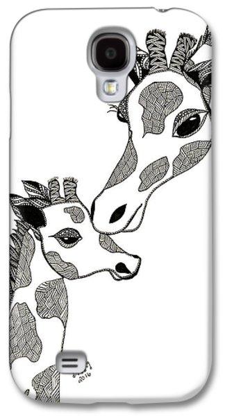 Giraffe Mom And Baby Galaxy S4 Case
