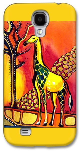 Giraffe With Fire  Galaxy S4 Case by Dora Hathazi Mendes