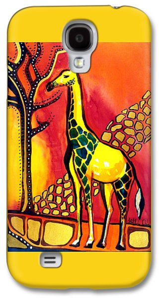 Giraffe With Fire  Galaxy S4 Case