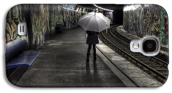 Girl Galaxy S4 Cases - Girl At Subway Station Galaxy S4 Case by Joana Kruse