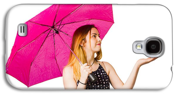Girl Feeling The Rain When Living In The Moment Galaxy S4 Case
