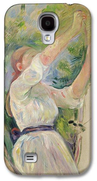 Girl Gathering Cherries Galaxy S4 Case by Berthe Morisot