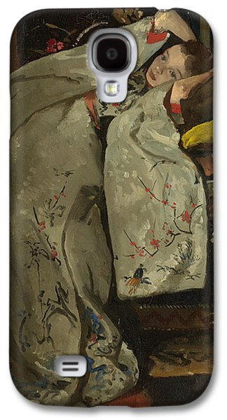 Girl In A White Kimono Galaxy S4 Case by Georg-Hendrik Breitner