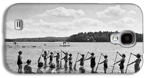 Girl Scout Canoe Lessons Galaxy S4 Case by Underwood Archives