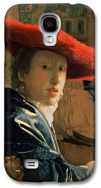 Girl With A Red Hat Galaxy S4 Case by Jan Vermeer