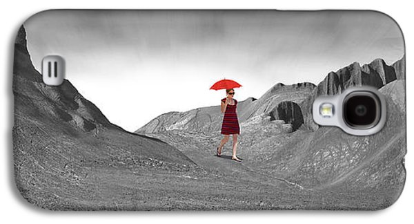 Girl With A Red Umbrella 2 Galaxy S4 Case by Mike McGlothlen