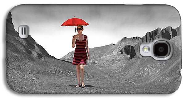 Girl With A Red Umbrella 3 Galaxy S4 Case by Mike McGlothlen