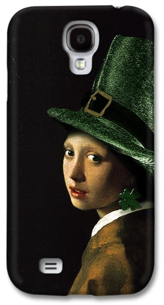 Girl With A Shamrock Earring Galaxy S4 Case by Gravityx9   Designs