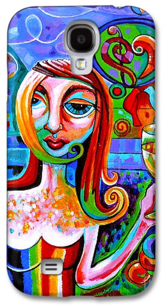 Girl With Glass Of Chardonnay Galaxy S4 Case