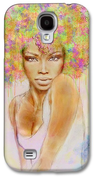 Girl With New Hair Style Galaxy S4 Case by Lilia D