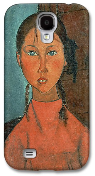 Youthful Galaxy S4 Case - Girl With Pigtails by Amedeo Modigliani