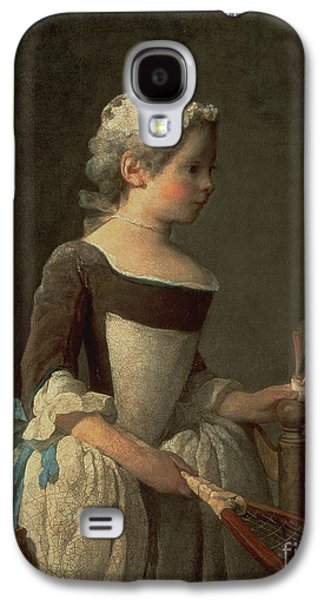 Girl With Racket And Shuttlecock Galaxy S4 Case by Jean-Baptiste Simeon Chardin