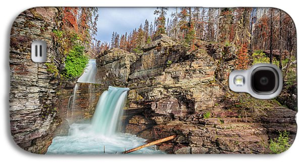 Glacier National Park Chilly Waterfall Galaxy S4 Case by Andres Leon