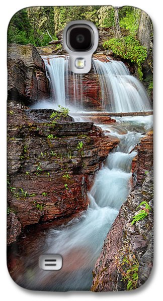 Glacier National Park Waterfall 2 Galaxy S4 Case by Andres Leon