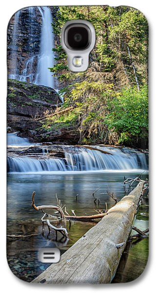 Glacier National Park Waterfall 3 Galaxy S4 Case by Andres Leon