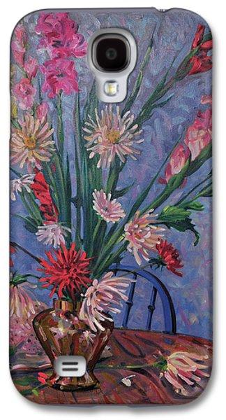 Gladiolas And Dahlias Galaxy S4 Case