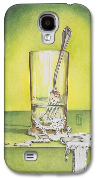 Glass With Melting Fork Galaxy S4 Case by Melissa A Benson