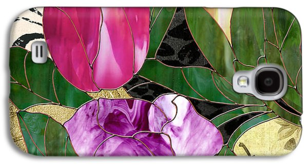 Glassberry Stained Glass Rose Galaxy S4 Case by Mindy Sommers