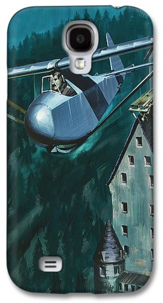 Glider Escape From Colditz Castle Galaxy S4 Case by Wilf Hardy
