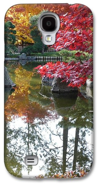 Glorious Fall Colors Reflection With Border Galaxy S4 Case