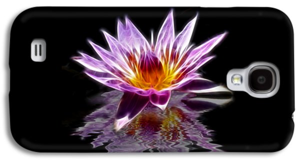Glowing Lilly Flower Galaxy S4 Case by Shane Bechler