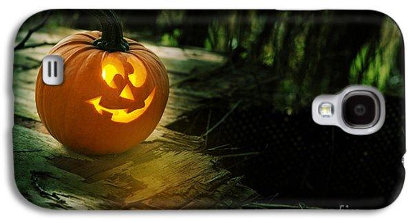 Glowing Pumpkin Galaxy S4 Case