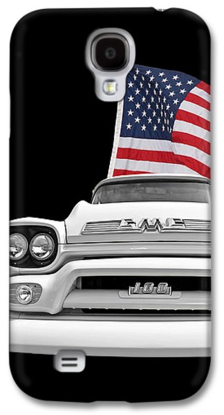 Gmc Pickup With Us Flag Galaxy S4 Case by Gill Billington
