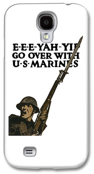 Go Over With Us Marines Galaxy S4 Case by War Is Hell Store