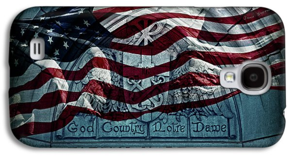 God Country Notre Dame American Flag Galaxy S4 Case